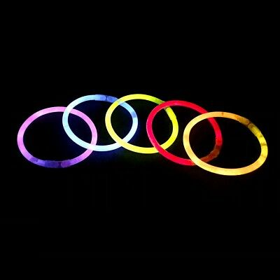 Pack of 100 Premium Glow Sticks Glowsticks Four Assorted Mixed Colours Non Toxic