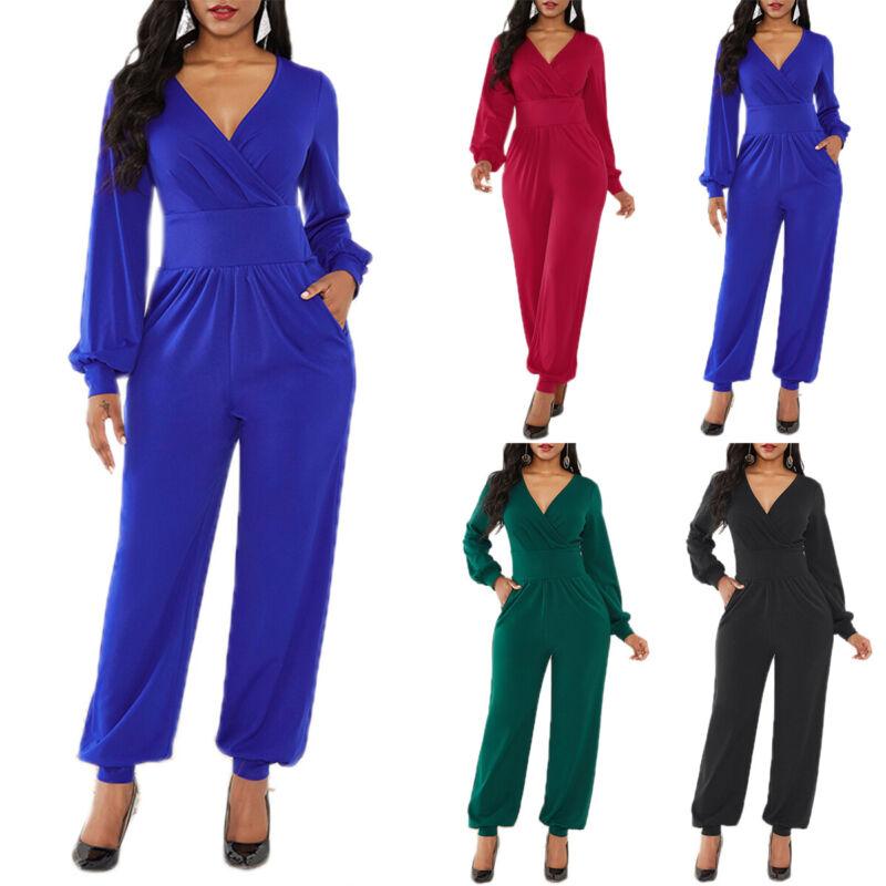 Plus Size Women Halter Jumpsuit Wide Leg Trousers Party Office Playsuit Rompers Clothing, Shoes & Accessories