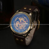 U.S.A Fashion Skeleton Dial Dress Men Automatic Mechanical Mens Sport Watch