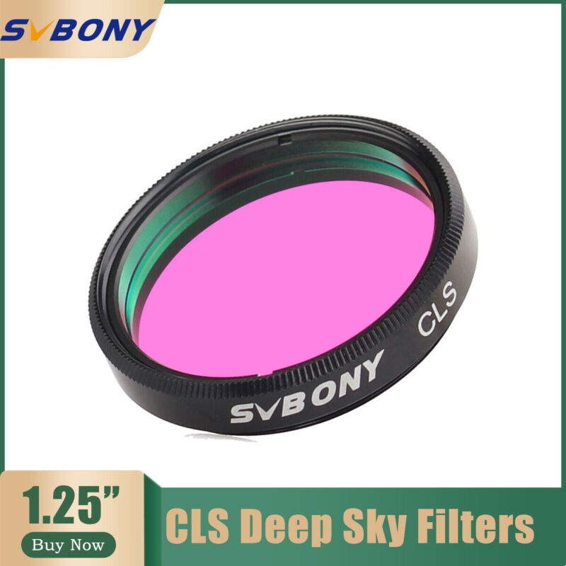 """SVBONY 1.25 inch  CLS Deep Sky Filters For 1.25"""" Eyepieces Cuts Light Pollution"""