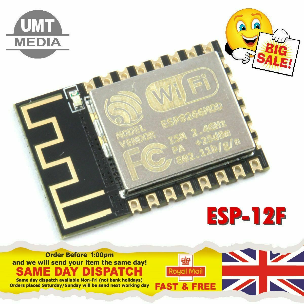 ESP8266 ESP-12F Serial Wireless WIFI Transceiver Module Arduino Raspberry PI