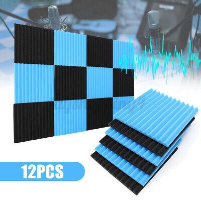 12PACK Acoustic Panels Soundproofing Foam Acoustic Tiles Studio 12''x12''x1'' d