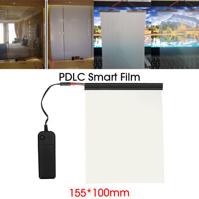 Electric PDLC Film Smart Glass Window Door Tint Switchable Smart Film 6''x4''