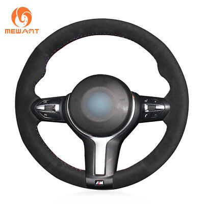 Black Suede Steering Wheel Cover for BMW F22 F30 F32 F07 F12 M2 M3 M4 M5 M6 X3 M for sale  Shipping to Canada