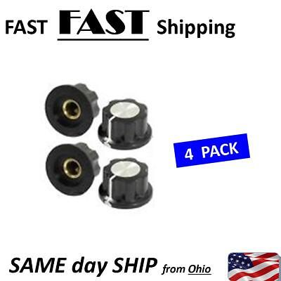 4 Pack Potentiometer Knob 16mm Top Rotary Control Turning Knob For Hole Dia 6mm