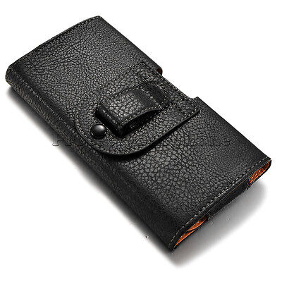 Купить Unbranded/Generic - SAMSUNG GALAXY S8 PLUS Black Leather Carrying Pouch Case Cover Holster Belt Clip