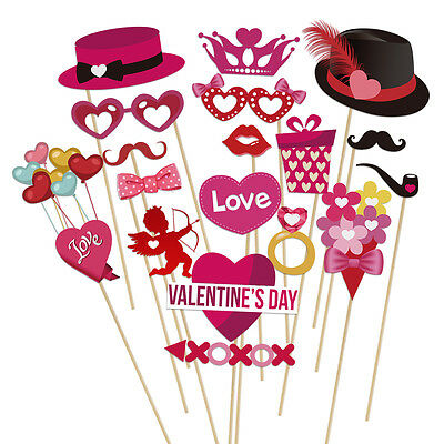 40pcs Valentine's Day Photo Booth Props  DIY Kit for Valentine's Decor Wedding](Diy Halloween Photo Booth Props)