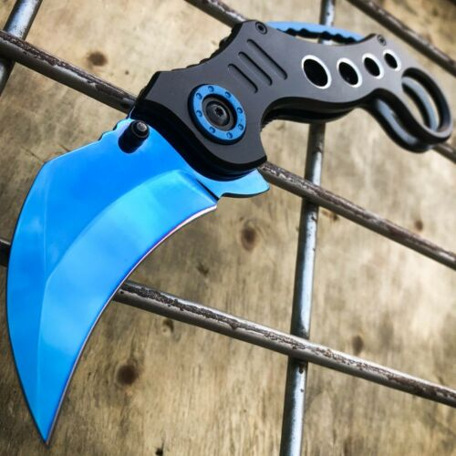 """8"""" Military Tactical Spring Assisted Karambit Open Folding Claw Pocket Knife NEW"""