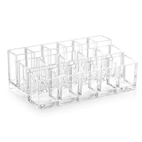 Acrylic Cosmetic Makeup Nail Polish Lipstick Holder 16 Compartment Organizer Health & Beauty