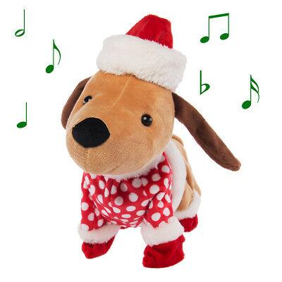 Animated Christmas Figures Plush Dog Singing Dancing Christmas Decorations