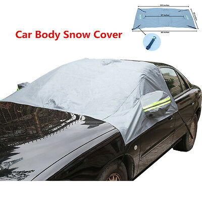 Car Body Front Windshield   Rearview Mirror Protector Cover Snow Sunshade Guard