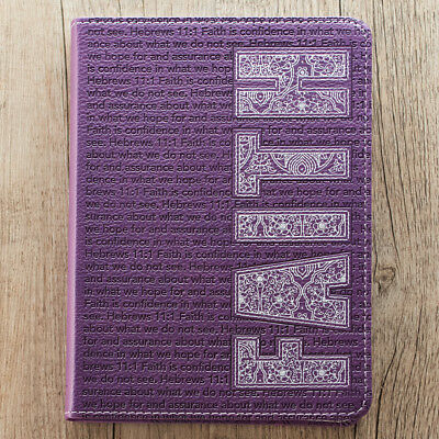 Faith Journal Notebook in Purple Flexcover by Christian Arts BRAND (Flexcover Journal)
