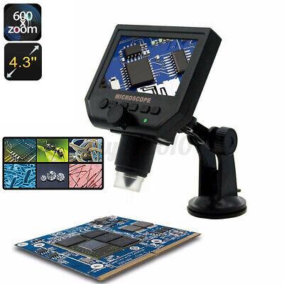 4.3lcd 1-600x 8 Led Digital Microscope Magnifier 1080p Hd 3.6mp Camera Au S