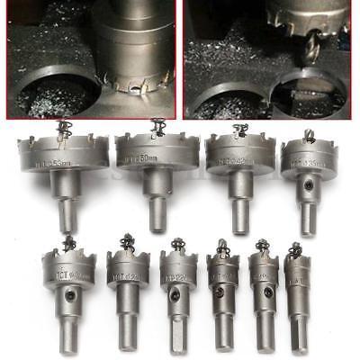 15-50mm Spiralbohrer Hartmetall Lochsäge Bohrkrone Kreisschneider Für Edelstahl (Kronen Für 15)