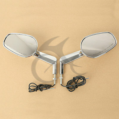 New Rear View Mirrors Muscle LED Turn Signals Light For Harley V-ROD V ROD VRSCF