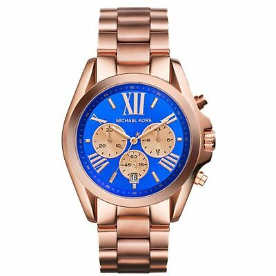 Michael Kors MK5951 Bradshaw Blue Face Rose Gold Watch for Women