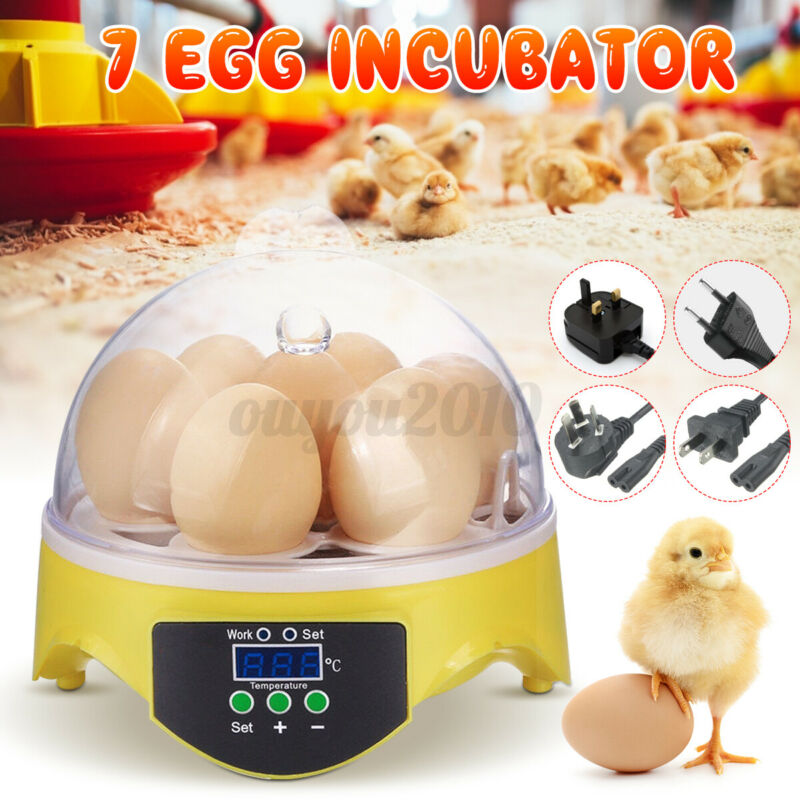 7 Egg Automatic Digital Egg Incubator Chicken Bird Hatcher Temperature Control