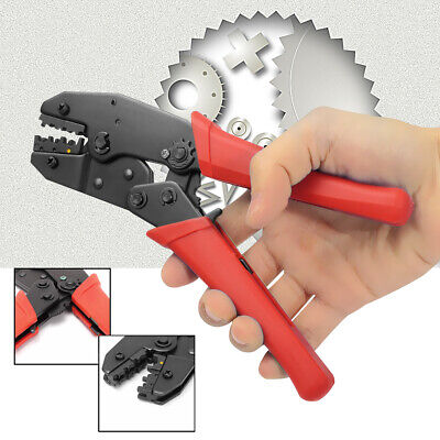 Awg 22-10 Cable Crimping Plier Insulated Ratchet Terminals Crimper Hand Tool Us