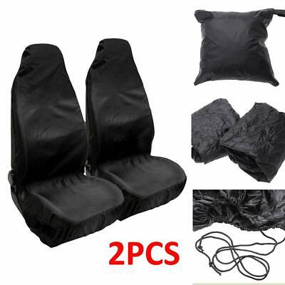 Pair HEAVY DUTY FRONT SEAT COVERS UNIVERSAL CAR VAN WATERPROOF PROTECTORS MUDDY