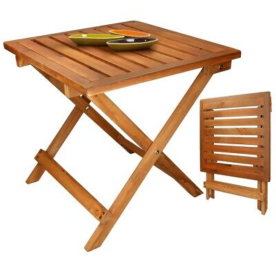 Mesa de jardín plegable de madera pino para comedor picnic café plegable...