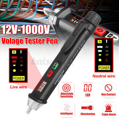 12v-1000v Lcd Acdc Voltage Test Pencil Sensitivity Electric Compact