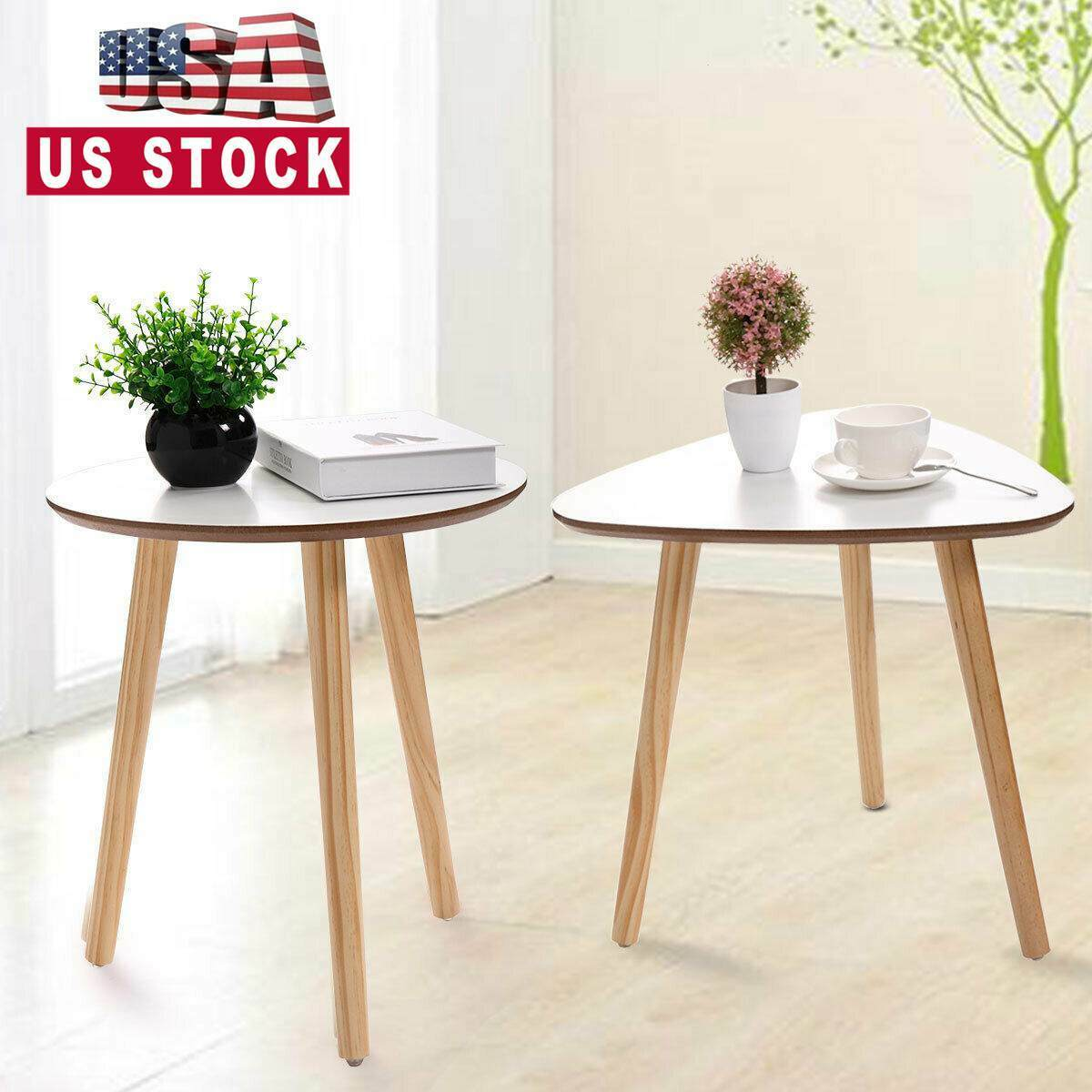 Modern Coffee End Table Wood Sofa Side Table Home Decor Small Space Furniture