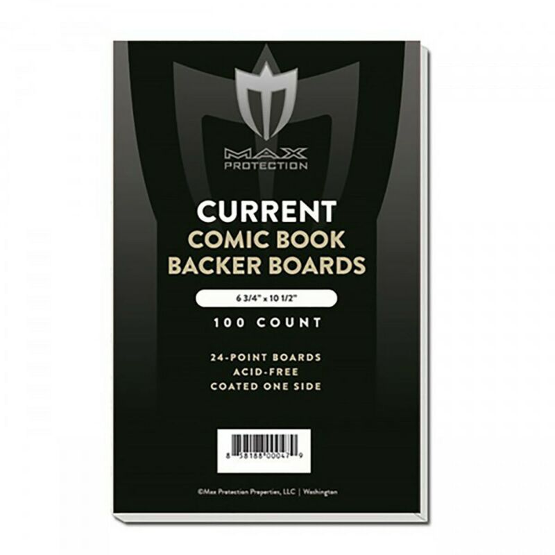 200 - MAX PRO CURRENT MODERN COMIC BOOK BACKING BOARDS 6-3/4 ACID FREE ARCHIVAL