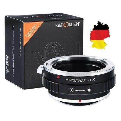K&F Concept Adaptador Minolta A Lente Sobre Fujifilm X-Mount Cámara MAF-FX