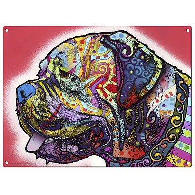 Mastiff Dog Dean Russo Pop Art Sign Pet Steel Wall Decor 16 x 12