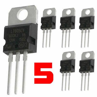 5 X Lm7805 L7805 7805 Ic Positive Voltage Regulator 5v 1.5a To-220 Usa