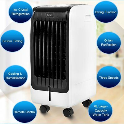 Evaporative Air Cooler with Fan & Humidifier Portable Bladeless Quiet Electric F