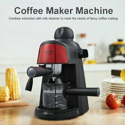 800w 5 Bar Coffee Espresso Cappuccino Latte Drink Maker Milk Steamer Machine