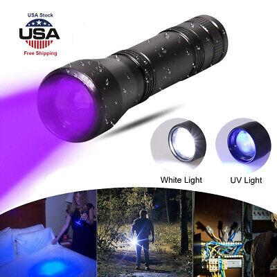 UV Flashlight Black Light USB Rechargeable Blacklight 5W Ultra violet LED Lamp