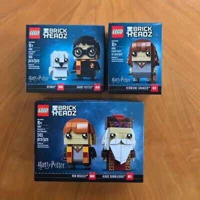 LEGO BrickHeadz Harry Potter Full Set (41615, 41616 & 41621) Factory Sealed Mint