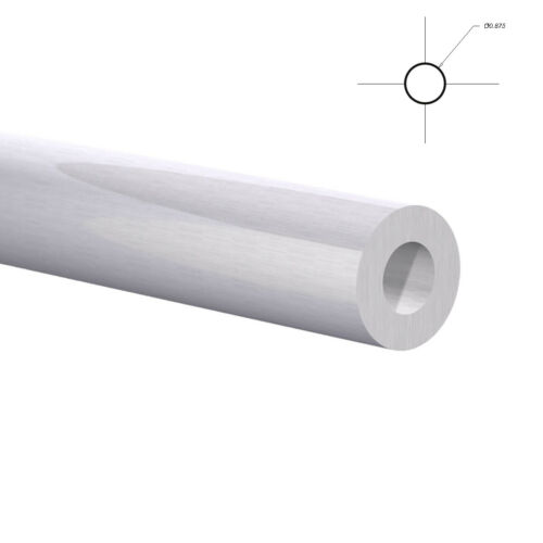 "Aluminum Round Tubing -7/8"" OD x 47/64"" ID 4 Foot Mill Finish"
