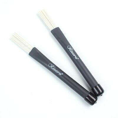 1 pair Classic Jazz Telescoping Retractable Wire Drum Brush Stick ,Nylon White