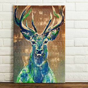 Canvas Prints Retro Home Decor Wall Art Picture Painting Poster -Deer Unframed