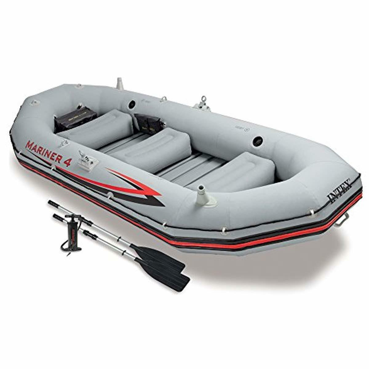 4 Man Inflatable Boat Set Best 4-Person Small Heavy Duty Adu
