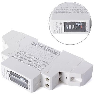 Wechselstromzähler Stromzähler 1 Phase DIN Wattmeter 5(30)A KWH Hutschiene BI41