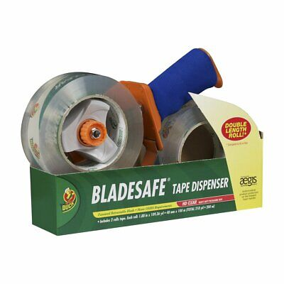 BladeSafe Tape Gun with HD Clear Packing Tape, 2 Rolls, 1.88 Inch x 109 Yard