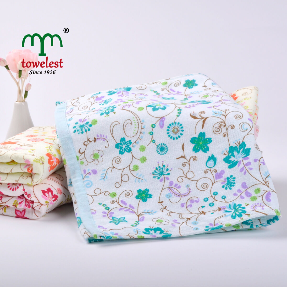 3PC Cotton Hand Towel Sets Floral Pattern Face Washcloth ...