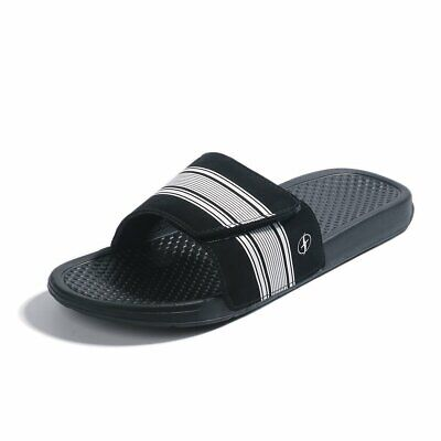 FITORY Mens Slides, Adjustable Sandals with Arch Support Comfort Beach Slippers