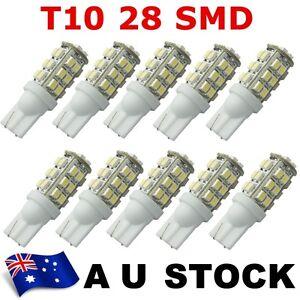 10X T10 Car 168 194 W5W White 28 SMD LED Wedge Light Bulb Lamp 12V DC AU ship