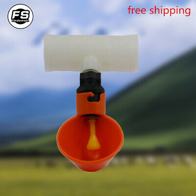 15pcs Poultry Water Drinking Cups-chicken Automatic Drinker With Three-way Valve
