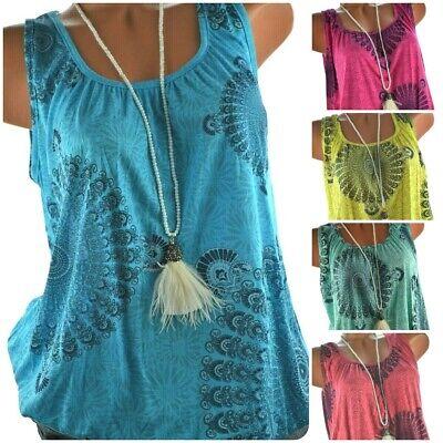 ITALY Süßes Sommer TOP Shirt Mandala Print Ballon Bluse 38 40 42 44 NEU ()