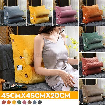 Ergonomisches Rückenkissen Nackenrolle Lesekissen Keilkissen für Sofa Bett 45cm