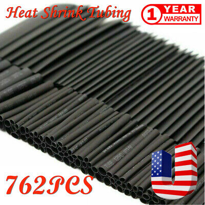762 Pc Heat Shrink Wire Wrap Assortment Set Tubing Electrical Connection Cable