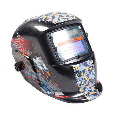 Auto Darkening Welding Helmet Mask Welders Arc Tig Mig Solar Powered W/ Grinding