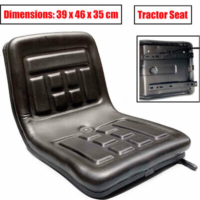 Black Tractor Seat with Back Rest Waterproof Lawn Mower Garden Tractor UTV/ATV Atv Garden Tractor