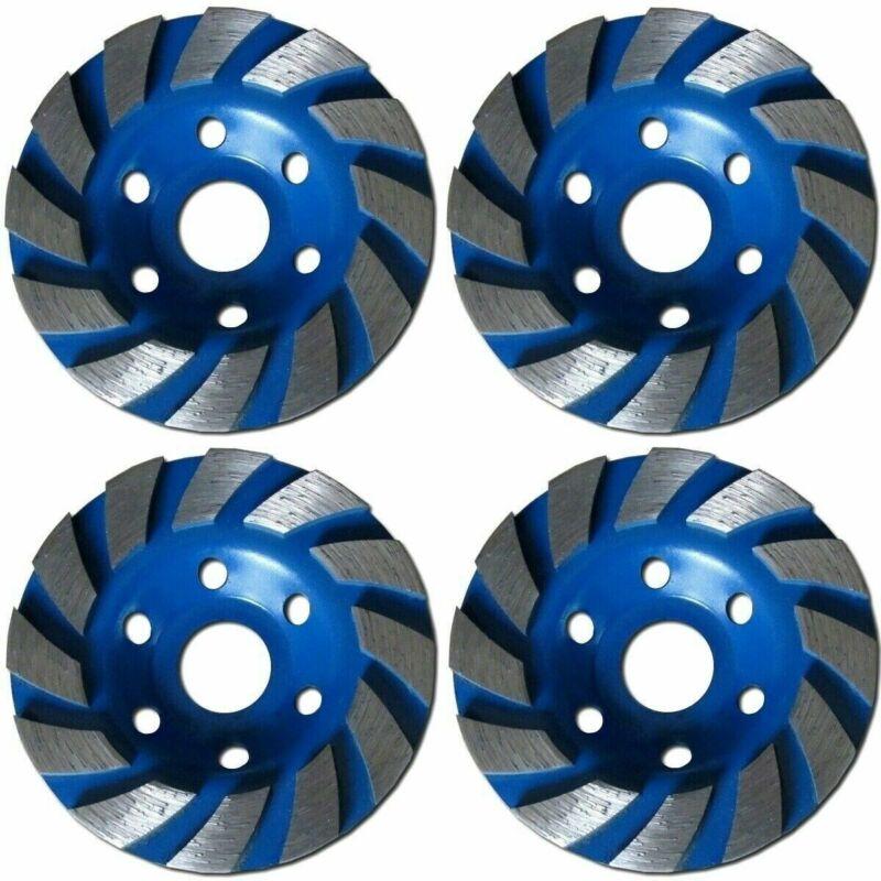 "4 PACK - 4 inch 4"" Diamond segment grinding CUP wheel disc grinder concrete Gran"